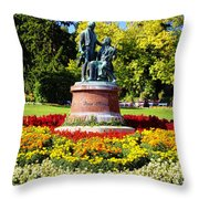 Strauss In Flowers Throw Pillow