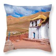 Straw Roof Machuca Church Throw Pillow