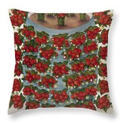 Strawberries, 1889 Throw Pillow