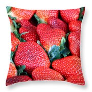 Strawberries 8 X 10 Throw Pillow