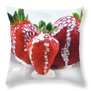 Strawberries And Cream Throw Pillow