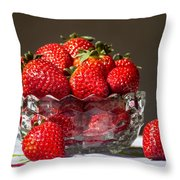 Strawberries In The Sun Throw Pillow