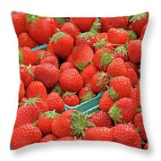 Strawberries Jersey Fresh Throw Pillow