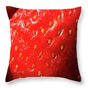 Strawberry Abstract Throw Pillow