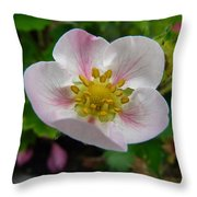 Strawberry Blossom Throw Pillow