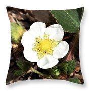 Strawberry Flower 1 Throw Pillow