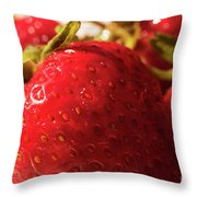 Strawberry Fun Throw Pillow