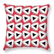 Strawberry Hamentashen- Art By Linda Woods Throw Pillow