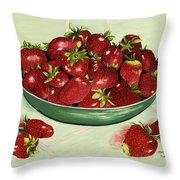 Strawberry Memories Throw Pillow