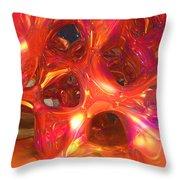 Strawberry Metal Throw Pillow