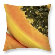 Strawberry Papaya Throw Pillow