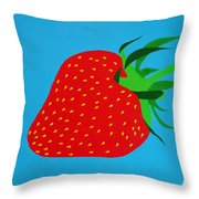 Strawberry Pop Throw Pillow by Oliver Johnston