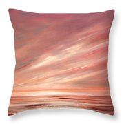 Strawberry Sky Sunset Throw Pillow