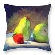 Strawberry Steals The Show Throw Pillow