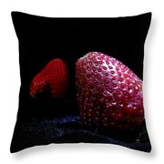 Strawberry Trail Throw Pillow
