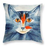 Stray Cat Throw Pillow