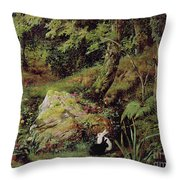Stray Rabbits Throw Pillow