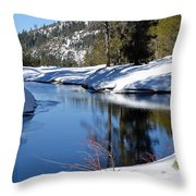 Stream 1 Throw Pillow