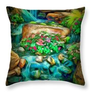 Stream In Ambiance Throw Pillow