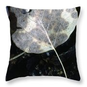 Stream Leaf Throw Pillow