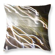 Streaming Abstract Throw Pillow