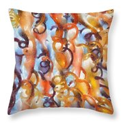 Streaming Life - Pastels Abstract Throw Pillow