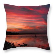 Streaming Sunset Throw Pillow