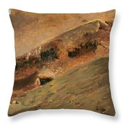 Streams Of Lava Throw Pillow
