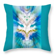Streams Of Light In Turquoise Throw Pillow
