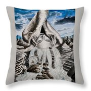 Streams Of Thought Throw Pillow