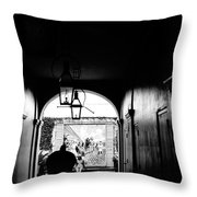 Street Ally New Orleans Black  Throw Pillow