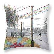 Street And Colors. Nizhny Novgorod, Sormovo. 3 May, 2015 Throw Pillow