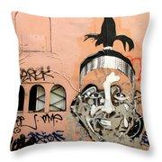 Street Art 1 Throw Pillow
