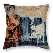 Street Art 3 Throw Pillow