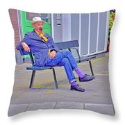 Street Art. Eighth Octave C. Throw Pillow