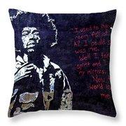 Street Art - Jimmy Hendrix Throw Pillow