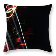 Street Busy Abstract  2 Throw Pillow