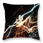 Street Busy At Night  Abstract Throw Pillow