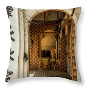 Street Cafe In Ipoh Throw Pillow