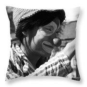 Street Clown  Throw Pillow