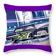 Street Cruiser - American Way Of Drive 4 By Jean-louis Glineur Throw Pillow