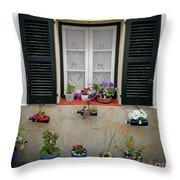 Street Flower Art Throw Pillow