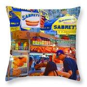 Street Food 5 Throw Pillow