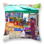 Street Food 6 Throw Pillow