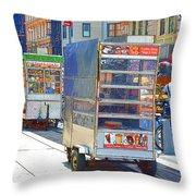 Street Food 8 Throw Pillow