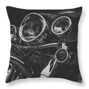 Street Glide On Display Throw Pillow