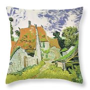 Street In Auvers Sur Oise Throw Pillow