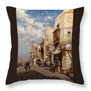 Street In Cairo Throw Pillow
