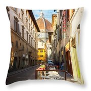 Street In Florence Throw Pillow