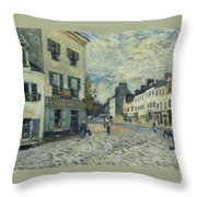 Street In Marly Throw Pillow